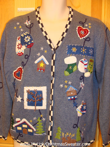Crafty Mittens and Stockings Funny Ugly Sweater