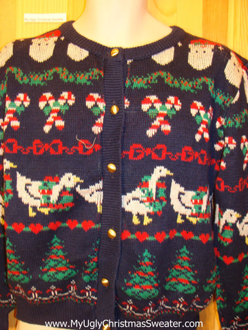 80s Style Two Sided Horrible Funny Ugly Sweater
