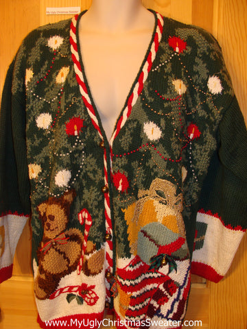 80s Style Chunky Funny Ugly Sweater Bear