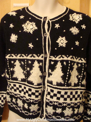 Black and White 2sided Funny Ugly Sweater