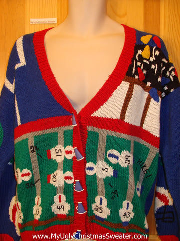 Ugly Football Sweater with Two Sided Design