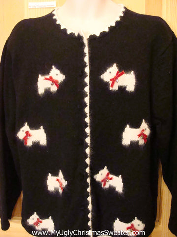West Highland Terrier Scottie Dog Funny Ugly Sweater