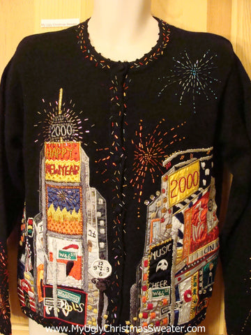 New Years Eve New York 2000 Sweater