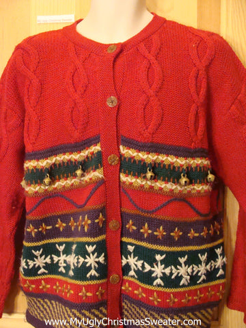 Tacky Cheap 2sided Nordic Red Christmas Sweater