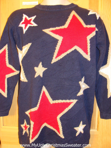Ugly Sweater Patriotic Stars for Anytime 80s