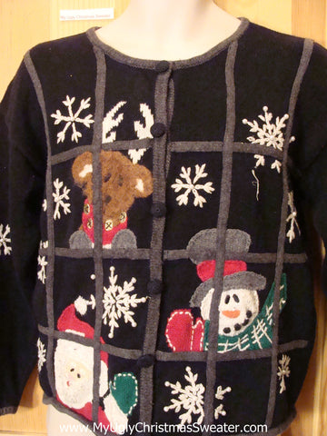 Santa in Jail 2sided Christmas Sweater