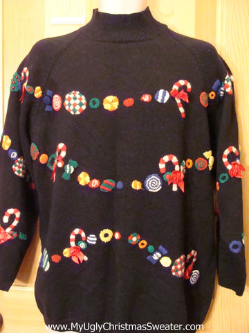 Christmas Sweater Colorful Garland All Over
