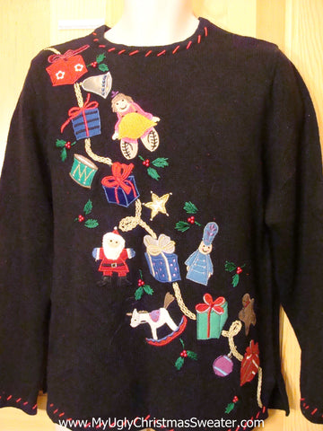 Christmas Sweater Jumper with Gifts and Toys