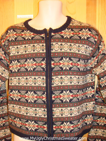 Tacky Cheap Brown Nordic Christmas Sweater