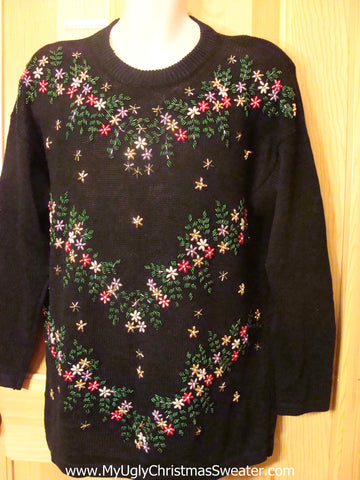 80s Bling Holiday Ugly Christmas Sweater
