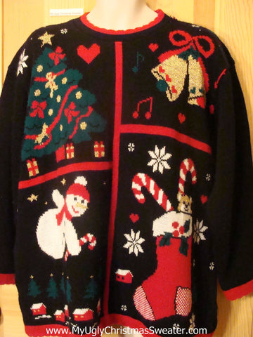 Ugly Christmas Sweater 80s for Women or Mens XXXL