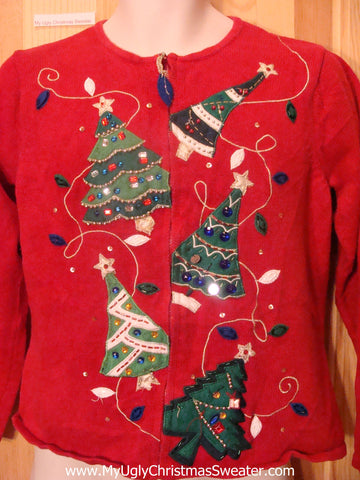 Tipsy Trees Ugly Christmas Sweater Party Jumper