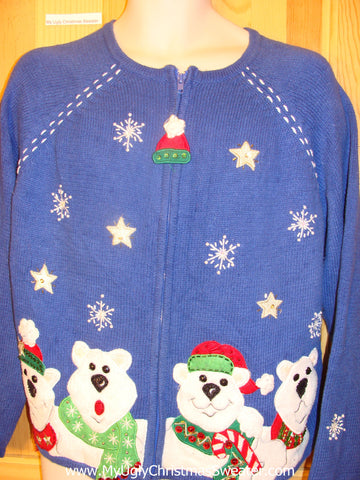 Ugly Christmas Sweater Party Jumper with Snowmen