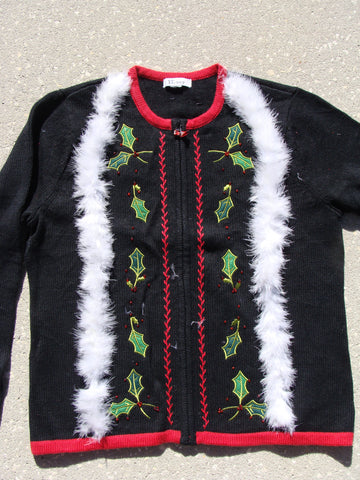 Ugly Christmas Sweater Party Jumper with Festive Ivy