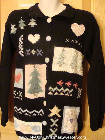 Ugly Christmas Sweater Party Jumper 80s Horrible Cardigan
