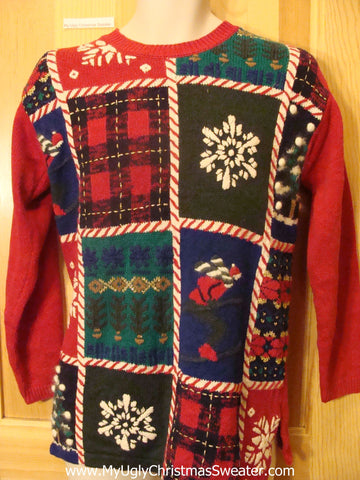 Ski and Snowflakes Ugly Christmas Sweater