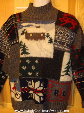Ralph Lauren Vintage Ugly Christmas Sweater with Reindeer