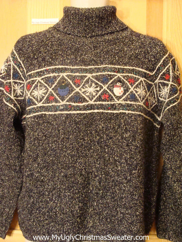 Ugly Christmas Sweater Festive Nordic Turtleneck