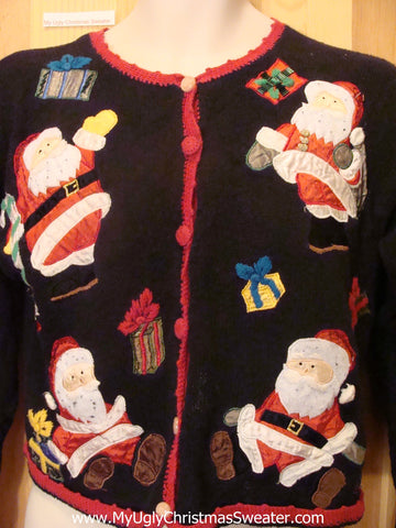 Ugly Christmas Sweater Four Happy Snowmen