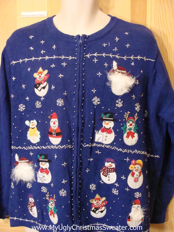 Ugly Blue Christmas Sweater  Womens Mens XXXL