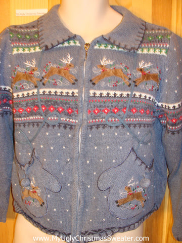 Child Ugly Christmas Sweater with Reindeer
