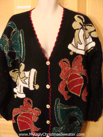 Ugly Christmas Sweater 80s Belss and Ornaments
