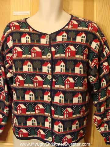 Holy Grail of Ugly Christmas Sweater Horrible Crazy Houses