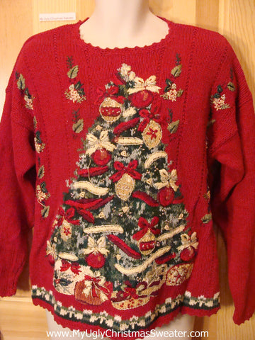 Horrible Ugly Christmas Sweater with Huge Tree