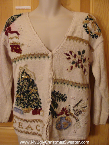 Ugly Christmas Sweater 80s Padded Shoulders