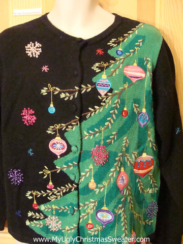 Ugly Christmas Sweater Horrible Bling Tree