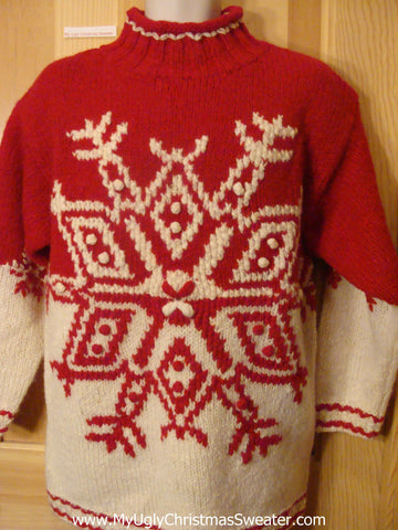 Ugly Christmas Sweater Nordic Snowflake Pullover