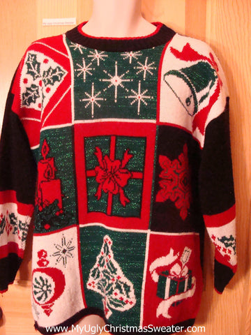 Ugly Christmas Sweater 80s Acrylic Horrible Pullover