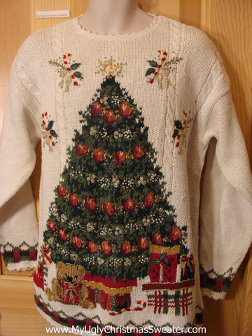 Ugly Christmas Sweater 80s Huge Horrible Tree