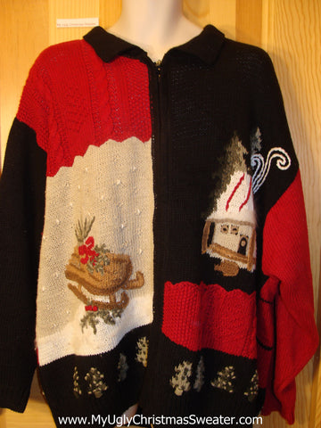 Ugly Christmas Sweater 2sided Wms Mens XXXL 3XL 4XL