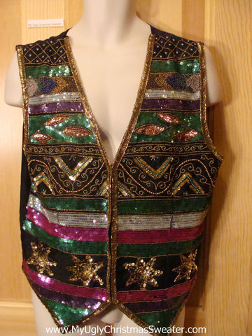 Ugly Christmas Sweater Bling Vest