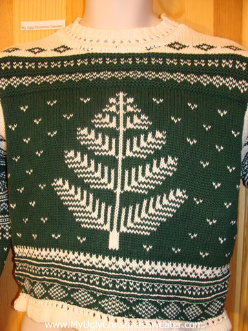 Ugly Christmas Sweater Nordic Green Pullover