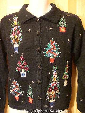 Ugly Christmas Sweater Bling Trees