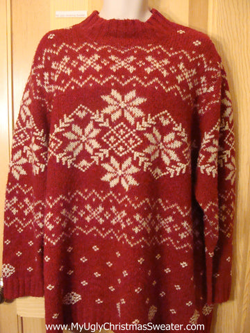 Ugly Red Christmas Sweater Nordic Wms Mens XXXL