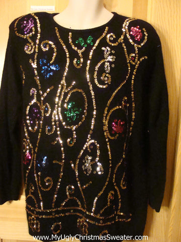 Ugly 80s Retro Blilng Pullover Sweater