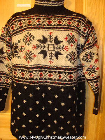 Ugly Christmas Sweater 2sided Nordic Pullover