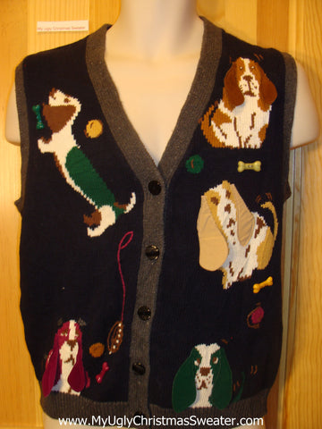 Ugly Dog Themed Sweater Vest