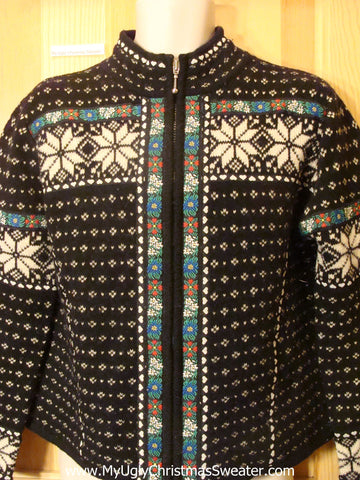 Ugly Christmas Sweater Nordic Snowflakes