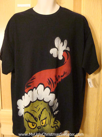 Ugly Christmas Sweater Party Grinch Tshirt