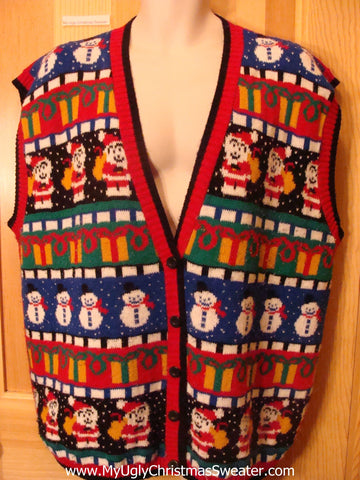 Ugly Christmas Sweater Vest Wms Mens XXXL