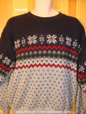 Ugly Christmas Sweater Nordic Snowflake Motif