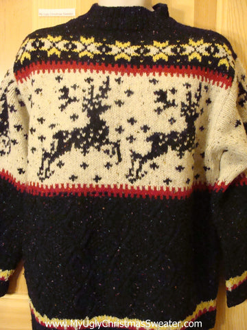 Ugly Christmas Sweater Nordic Vintage Style Reindeer