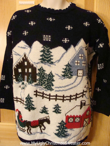 Funny Ugly Christmas Sweater 80s Winter Wonderland