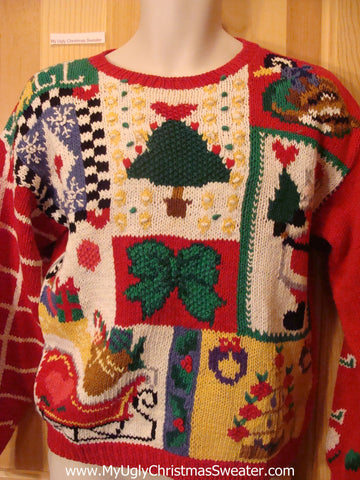 Funny 2sided 80s Ugly Christmas Sweater