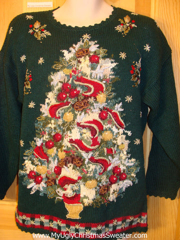 Funny Ugly Christmas Sweater 80s Huge Tree