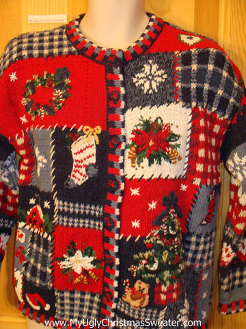 Funny Ugly Christmas Sweater 2sided Mess